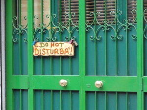 Do not disturb, Rome